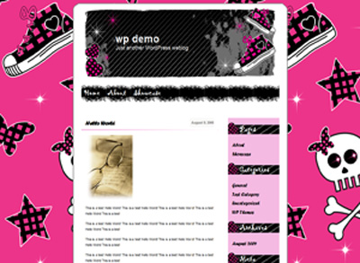 Wordpress Themes Simple Emo theme